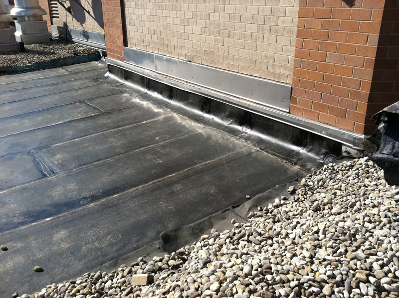Commercial Roof Repair : Commercial flat roof repair adriatic restoration corp